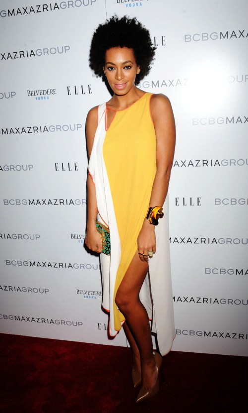 Solange Knowles attends the BCBG Max Azria and Herve Leger Fall 2012 After Party at Ajna Bar in New York City