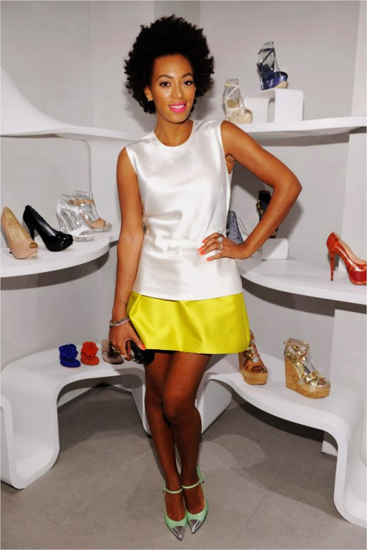 Solange Knowles wearing cap toes